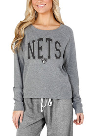 Brooklyn Nets Womens Mainstream Crew Sweatshirt - Grey