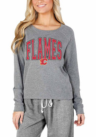 Calgary Flames Womens Mainstream Crew Sweatshirt - Grey