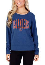 New York Islanders Womens Mainstream Crew Sweatshirt - Blue