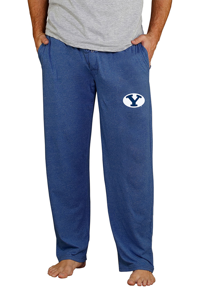 BYU Cougars Mens Navy Blue Quest Sleep Pants - Image 1