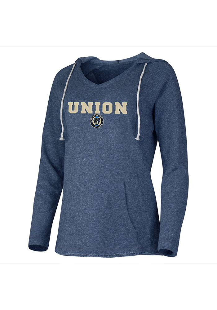 Philadelphia Union Womens Navy Blue Mainstream Hooded Sweatshirt - Image 1