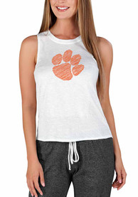 Clemson Tigers Womens Gable Tank Top - White