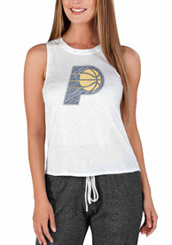 Indiana Pacers Womens Gable Tank Top - White