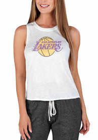 Los Angeles Lakers Womens Gable Tank Top - White