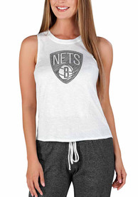 Brooklyn Nets Womens Gable Tank Top - White