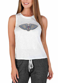 New Orleans Pelicans Womens Gable Tank Top - White
