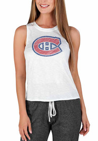Montreal Canadiens Womens Gable Tank Top - White