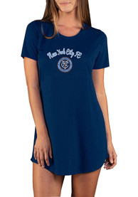 New York City FC Womens Marathon Sleep Shirt - Navy Blue
