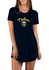 Portland Timbers Womens Marathon Sleep Shirt - Black