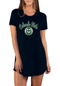 Colorado State Rams Womens Marathon Sleep Shirt - Black