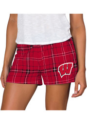 Wisconsin Badgers Womens Black Ultimate Flannel Shorts