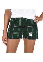 Michigan State Spartans Womens Black Ultimate Flannel Shorts