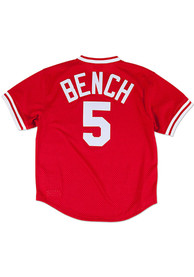 Johnny Bench Cincinnati Reds Mitchell and Ness 1983 Cooperstown - Red