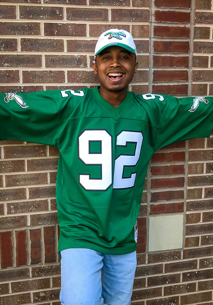 Mitchell and Ness Philadelphia Eagles Mens White Replica Collection Football Jersey - Image 3