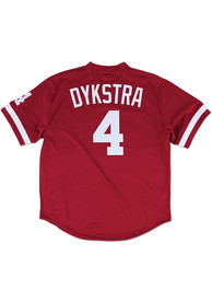 Lenny Dykstra Philadelphia Phillies Mitchell and Ness 1991 Cooperstown - Maroon