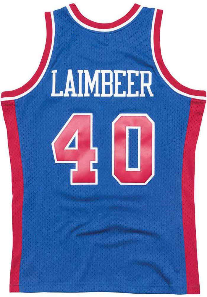 san francisco 40dcc 79638 Bill Laimbeer Mitchell and Ness Detroit Pistons Mens Blue Throwback Jersey