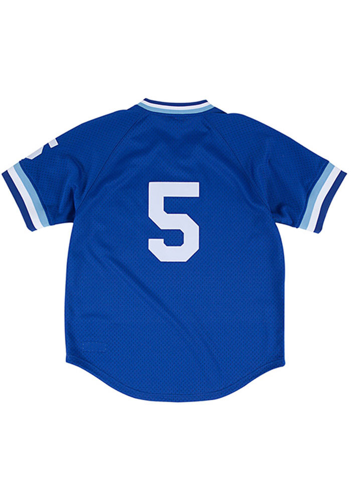 George Brett Kansas City Royals Cooperstown Jersey - Blue - Image 1