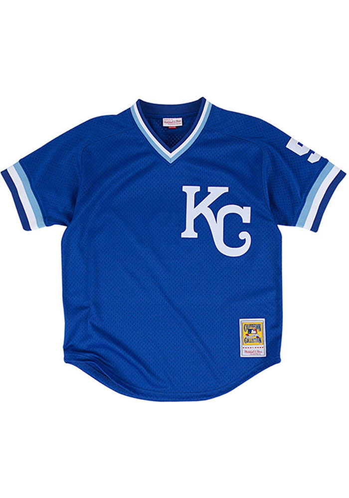 George Brett Kansas City Royals Cooperstown Jersey - Blue - Image 2