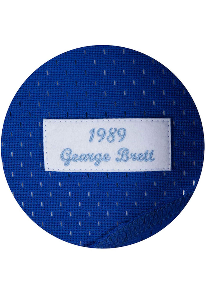 George Brett Kansas City Royals Cooperstown Jersey - Blue - Image 5