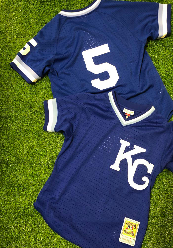 George Brett Kansas City Royals Cooperstown Jersey - Blue - Image 6