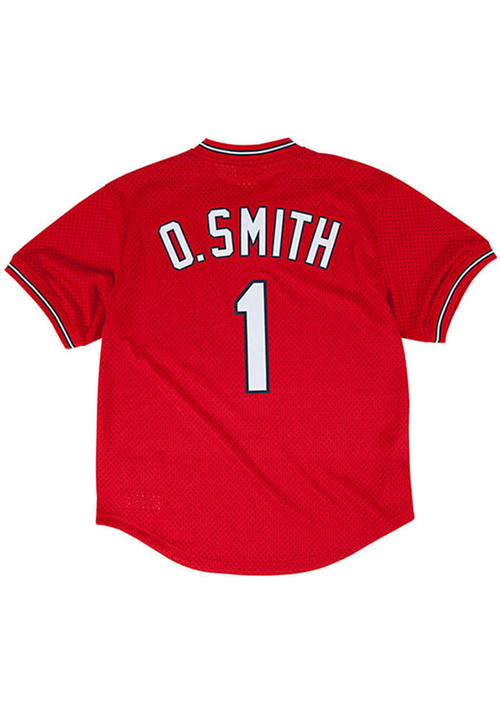 Ozzie Smith St Louis Cardinals Mens Cooperstown Jersey - Red - Image 1