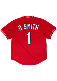 Ozzie Smith St Louis Cardinals Mitchell and Ness 1996 Cooperstown - Red