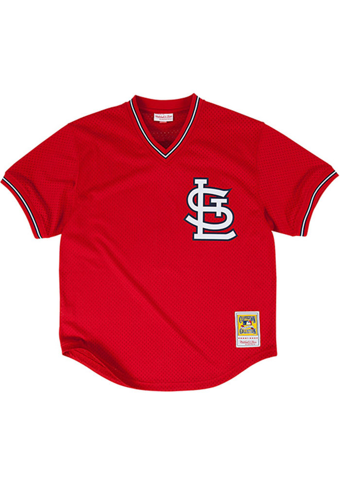 Ozzie Smith St Louis Cardinals Mens Cooperstown Jersey - Red - Image 2