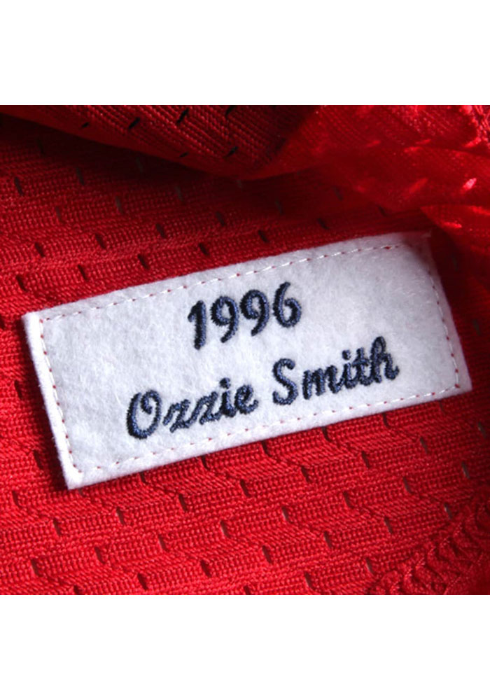 Ozzie Smith St Louis Cardinals Mens Cooperstown Jersey - Red - Image 4