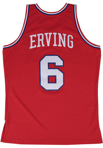 reputable site 1fde9 14d6d Julius Erving Mitchell and Ness Philadelphia 76ers Mens Red Throwback  Jersey - 5650014