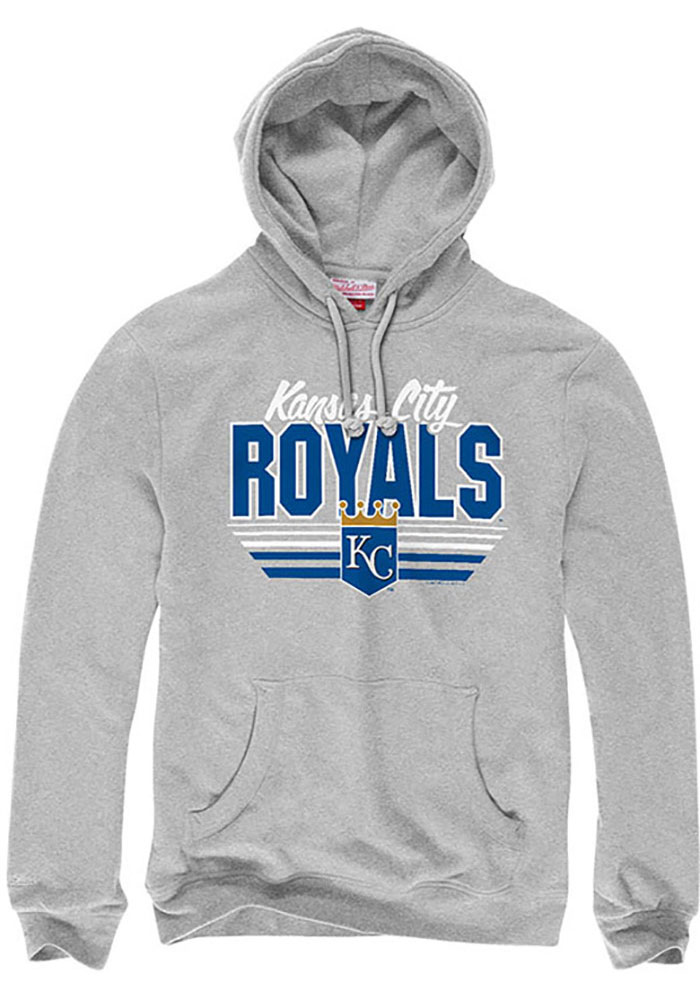 Mitchell and Ness Kansas City Royals Mens Grey Vintage Fashion Hood - Image 1