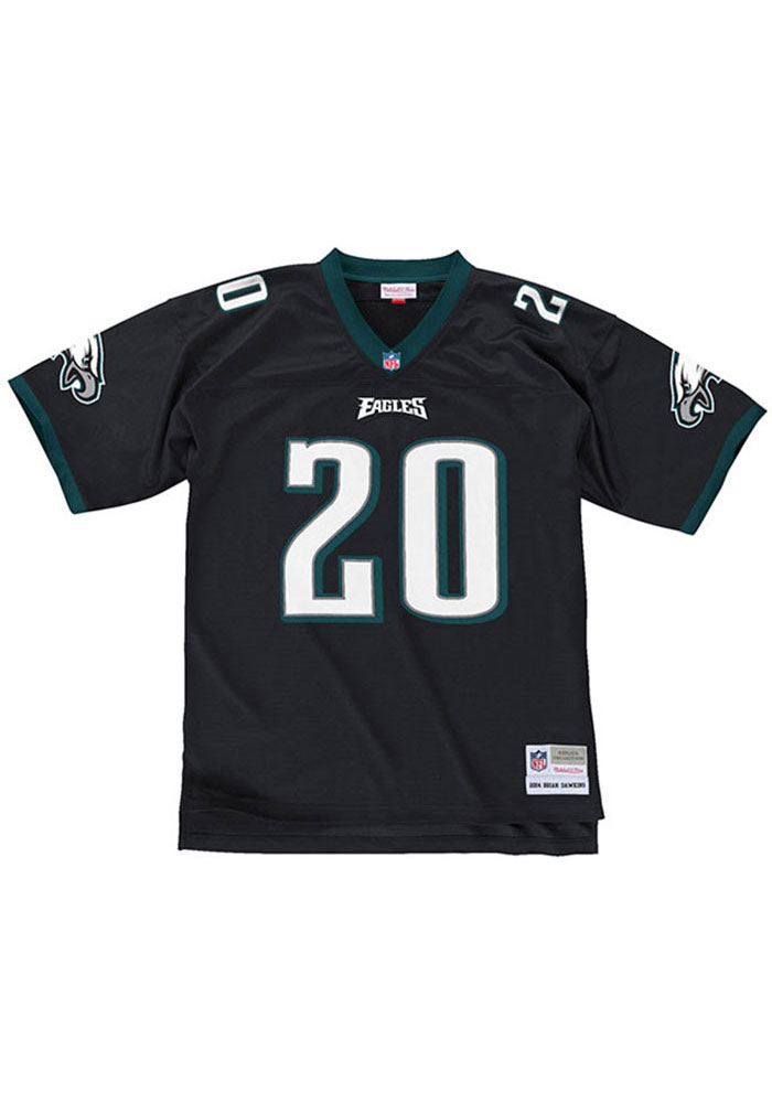 best service 245b0 a09a6 Brian Dawkins 20 Philadelphia Eagles Mens Black Replica Football Jersey