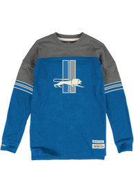 Mitchell and Ness Detroit Lions Blue Pump fake Tee
