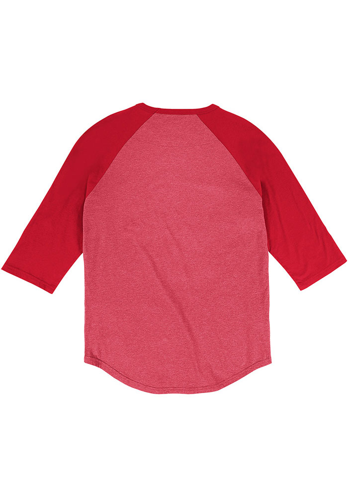 Mitchell and Ness Detroit Red Wings Red Team practice Long Sleeve Fashion T Shirt - Image 2