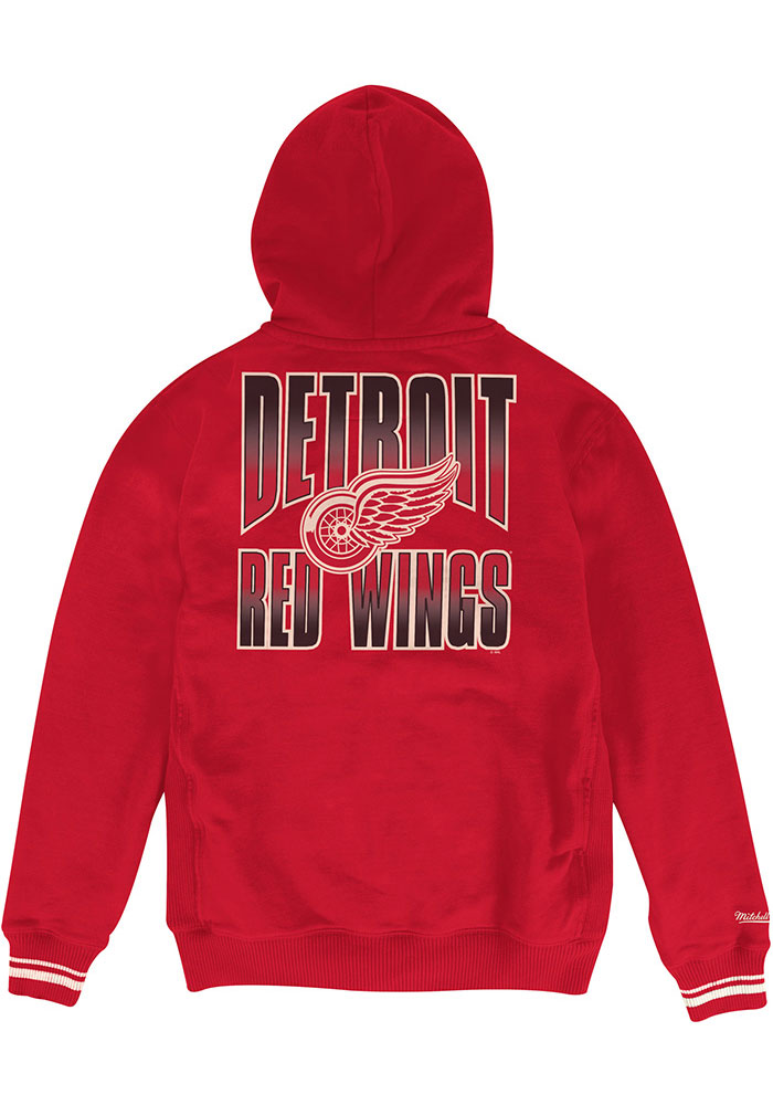 Mitchell and Ness Detroit Red Wings Mens Red Goal tender Long Sleeve Full Zip Jacket - Image 2