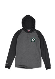 Dallas Stars Mitchell and Ness Home stretch Hooded Sweatshirt - Charcoal