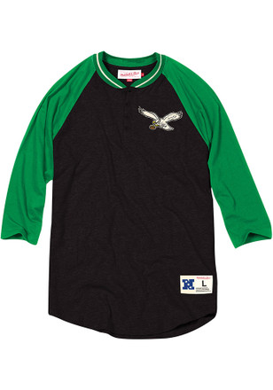 6481e3d5f Mitchell and Ness Philadelphia Eagles Black Button Fashion Tee