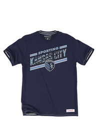 Mitchell and Ness SKC Navy Blue Jersey Stripe Fashion Tee