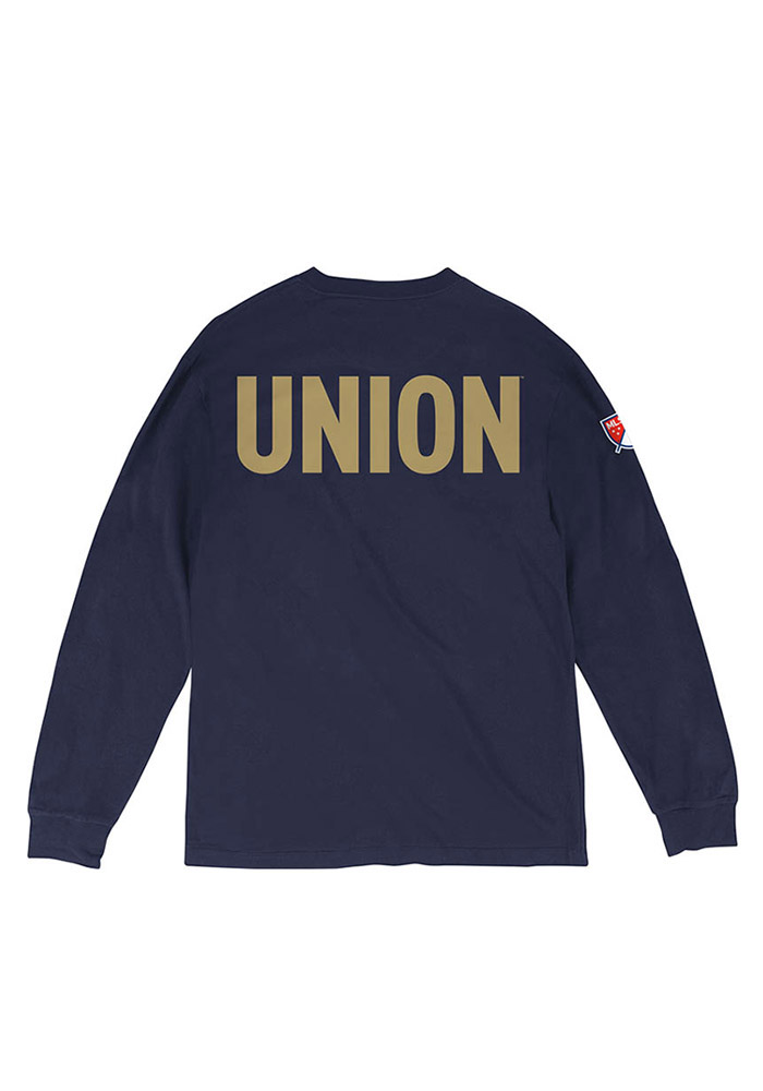 Mitchell and Ness Philadelphia Union Navy Blue Team Issue Long Sleeve Fashion T Shirt - Image 1