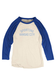Mitchell and Ness Sporting Kansas City Womens Team Issued White T-Shirt