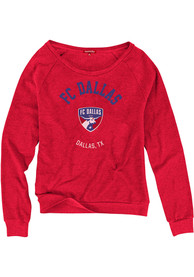 FC Dallas Womens Mitchell and Ness Hometown Champions Crew Sweatshirt - Red