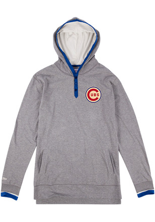 Mitchell and Ness Chicago Cubs Mens Grey Seal The Win Fashion Tee