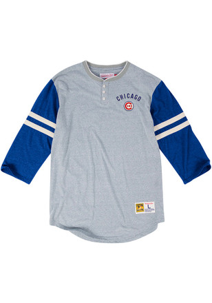 Mitchell and Ness Chicago Cubs Mens Grey Home Stretch Fashion Tee