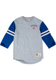 Mitchell and Ness Chicago Cubs Grey Home Stretch Fashion Tee