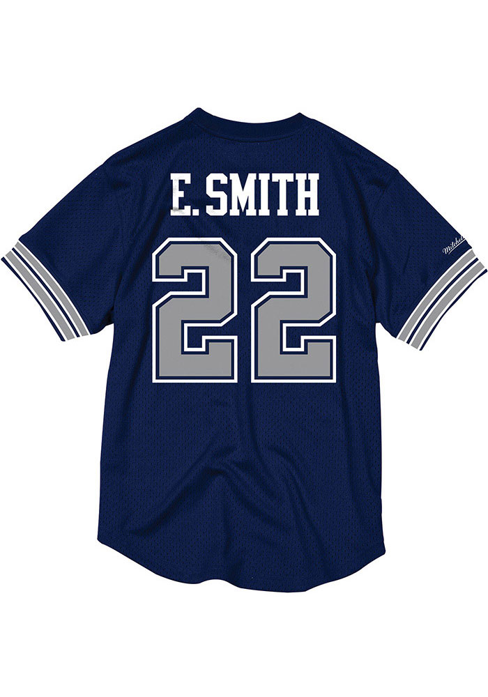 info for 09dc0 aa4c5 Emmitt Smith Mitchell and Ness Dallas Cowboys Mens Navy Blue Mesh Football  Jersey