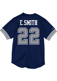 detailing e868f 484f1 Emmitt Smith Mitchell and Ness Dallas Cowboys Navy Blue Mesh Jersey