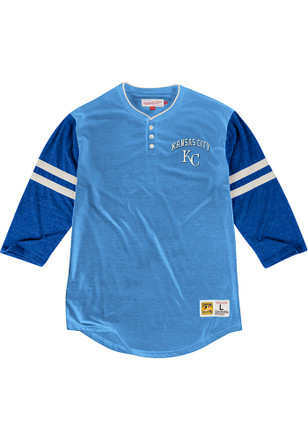 Mitchell and Ness KC Royals Mens Blue Home Stretch Fashion Tee