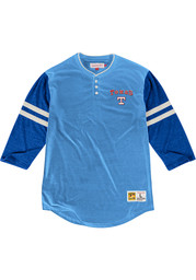 Mitchell and Ness Texas Rangers Light Blue Home Stretch Fashion Tee