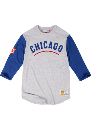 Mitchell and Ness Chicago Cubs Mens Grey Scoring Position Fashion Tee