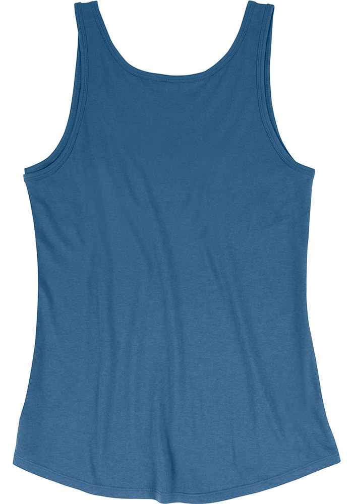 Mitchell and Ness Sporting Kansas City Womens Blue Seal The Win Tank Top - Image 2
