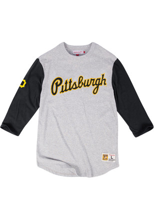 Mitchell and Ness Pittsburgh Pirates Mens Grey Scoring Position Fashion Tee